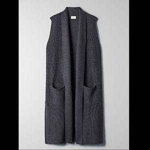 Wilfred Olivie Sleeveless Cardigan - Charcoal Grey